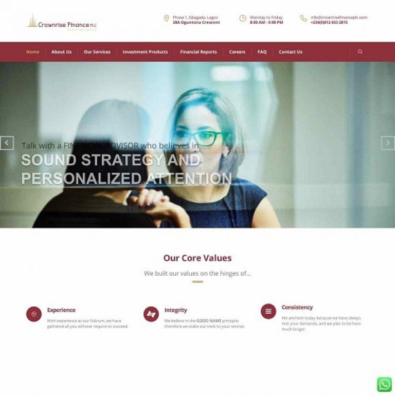 Website Redesign for Crownrise.