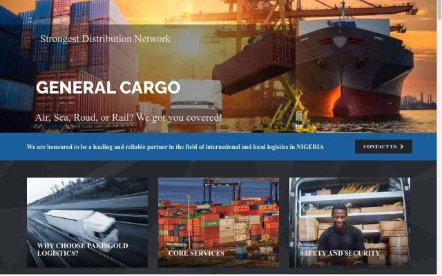 Custom Logistics Website