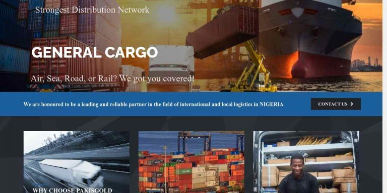 Custom Logistics Website