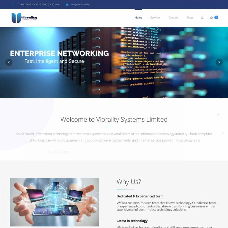 Results driven website design for Viorality